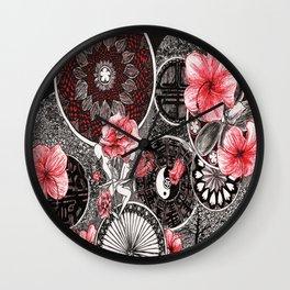 Twins 2-Roses Wall Clock