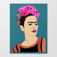 frida kahlo Canvas Prints featuring Frida Kahlo by Stephanie Jett