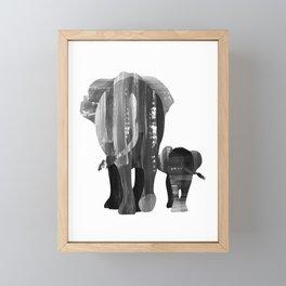 A walk together (black and white) Framed Mini Art Print
