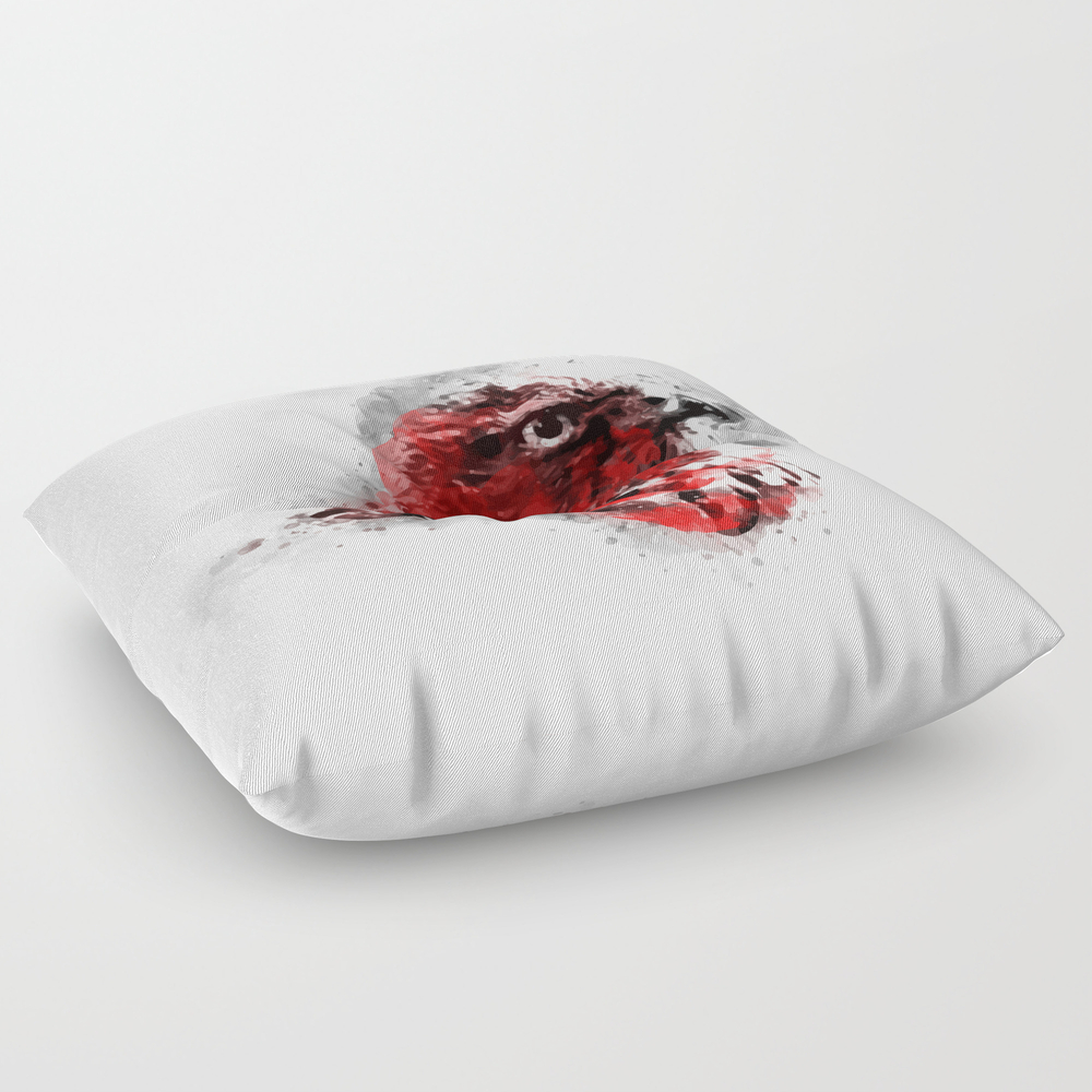 Redbreast Square Floor Pillow by Maioriz (FPL7893034) photo