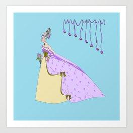 A Lavender Rose Bride with Bouffant Hair Art Print