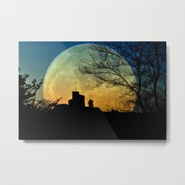 Full moon castle Metal Print