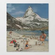 Matterhorn beach Canvas Print