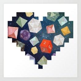 Heart of Dice Art Print