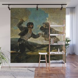 """Francisco Goya """"Duel with Cudgels, or Fight to the Death with Clubs"""" Wall Mural"""