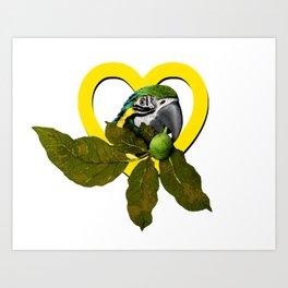 i love my ara Art Print