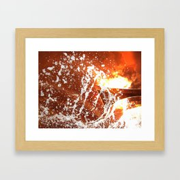 Water and Boarders Framed Art Print