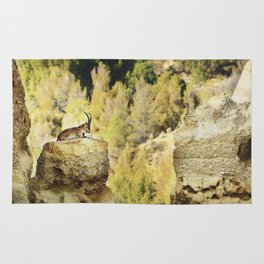"""""""Wildlife at the Bad lands. Mountain goat"""" Rug"""