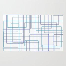 Blue Line Pattern Rug