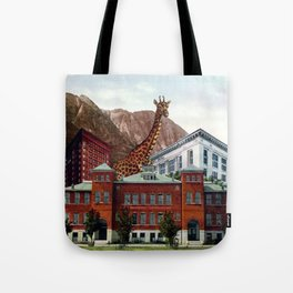 New Giraffe in Town Tote Bag