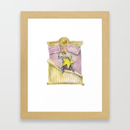 baby star in the bed Framed Art Print