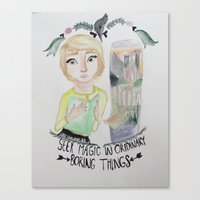 fangirl Canvas Prints featuring fangirl by Majelle Legros