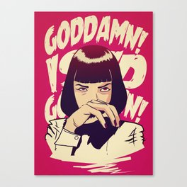 Pulp Fiction Mia Wallace Canvas Print