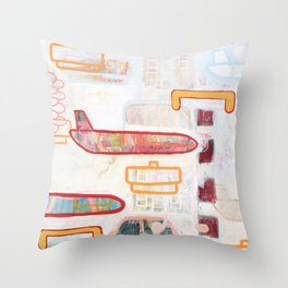Exit To The Right Throw Pillow