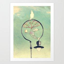 Glasgow Streetlamp Art Print