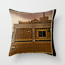 TOKYO: Room View Man at Window. Throw Pillow