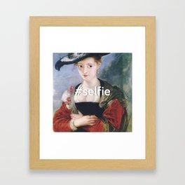 #SELFIE  Framed Art Print