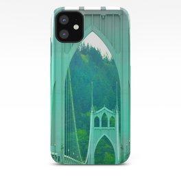 St. Johns Bridge Portland Oregon iPhone Case