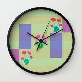 Peacocks Wall Clock
