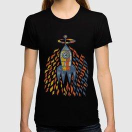 Self-firing rocket T-shirt