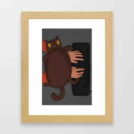 My Cat - Keyboard love Framed Art Print