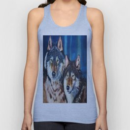 A pair of wolves Unisex Tank Top