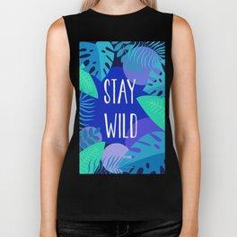 Stay Wild Blue Biker Tank