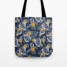 Festive Forest - Navy Tote Bag