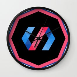 polymer javascript framework library  sticker polymerjs sticker Wall Clock