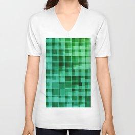green squares pattern Unisex V-Neck