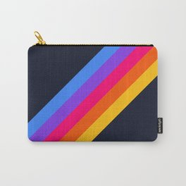 Classic Vintage 80s Style Retro Stripes - Olah Carry-All Pouch