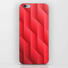 Gradient Red Diamonds Geometric Shapes iPhone Skin