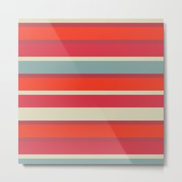 Stripes blush Metal Print
