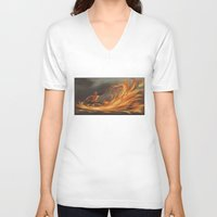 aang V-neck T-shirts featuring Avatar Aang by Zack Coleman