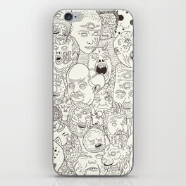 Faces of Math (no color edition)  iPhone Skin