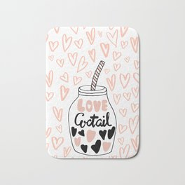 LOVE COCTAIL Bath Mat