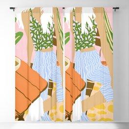 Kawa Tea #illustration #fashion Blackout Curtain