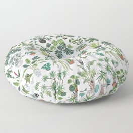 plants and pots pattern Floor Pillow