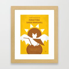 No394 My Forgetting Sarah Marshall minimal movie poster Framed Art Print