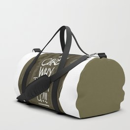 I care! Why don't U?!! Duffle Bag