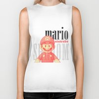 mario Biker Tanks featuring Mario by Thomas Official