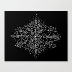 starburst line art - black Canvas Print