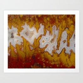 Cady Mountain Yellow Flame Agate Art Print