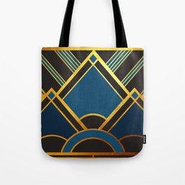 Art Deco New Tomorrow In Blue Tote Bag