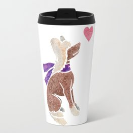 Watercolour Chinese Crested Dog Travel Mug
