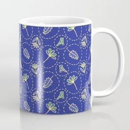 Tiny Floral Birds Dotty Coffee Mug