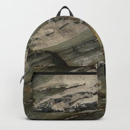 Sea Weathered Rock Texture with Sand Backpack