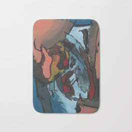 Over the Bluff Abstract Landscape Painting Bath Mat