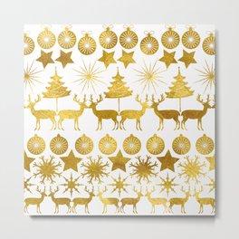 Gold Christmas 04 Metal Print