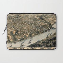 Map Of Kansas City 1869 Laptop Sleeve